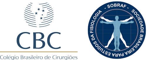 Logos Marcas Colégio Brasileiro de Cirurgiões e Sociedade Brasileira para Estudos da Fisiologia